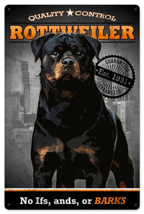 Rottweiler, Quality Control, Dog Metal Sign, Wall Decor, Wall Art 16