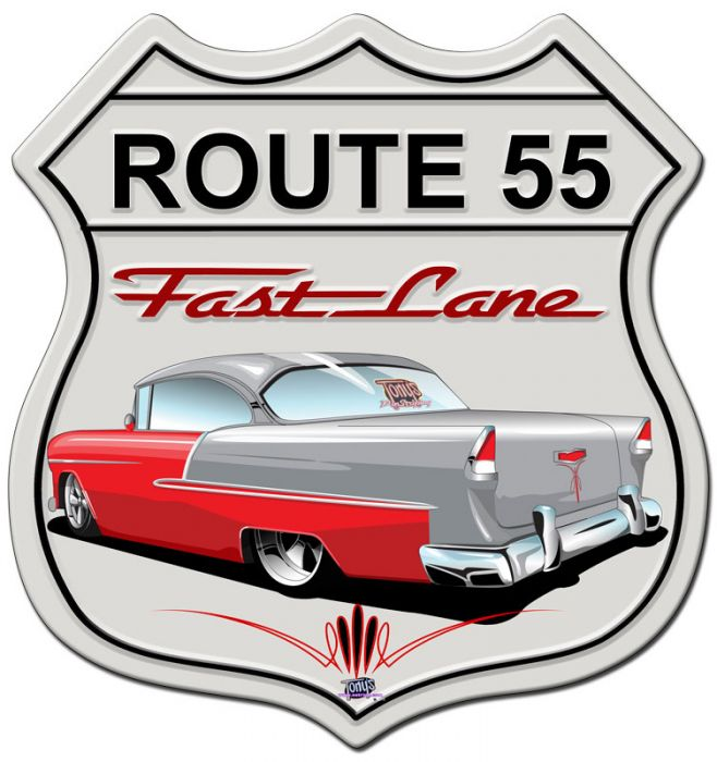 Classic Car Shield Featured Artists Tony S Pinstriping Satin Shield Metal Sign 15 X 15 Inches