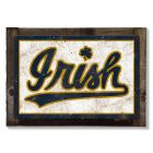 Notre Dame Fighting Irish, Wall Art, Rustic Metal Sign, Optional Rustic Wood Frame, College Teams, Mascots, and Sports, Free Shipping