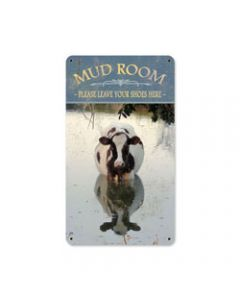 Mud Room, Home and Garden, Metal Sign, 8 X 14 Inches