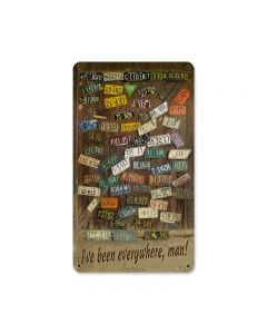 License Plates, Home and Garden, Metal Sign, 8 X 14 Inches