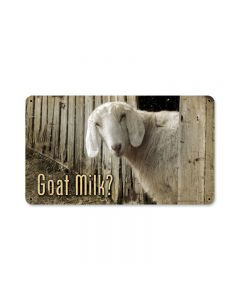 Goat Milk, Home and Garden, Metal Sign, 14 X 8 Inches