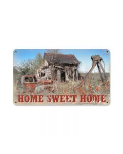 Home Sweet Home, Home and Garden, Metal Sign, 14 X 8 Inches