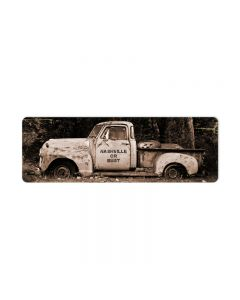 Nashville or Bust, Home and Garden, Metal Sign, 24 X 8 Inches