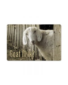Goat Milk, Home and Garden, Metal Sign, 18 X 12 Inches