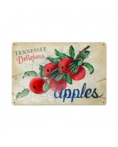 Tennessee Apples, Home and Garden, Metal Sign, 18 X 12 Inches