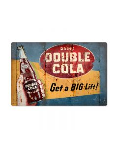 Double Cola, Home and Garden, Metal Sign, 24 X 16 Inches