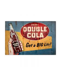 Double Cola, Home and Garden, Metal Sign, 36 X 24 Inches