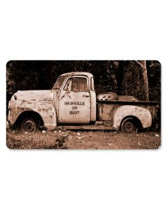 Nashville Truck, Automotive, Metal Sign, 14 X 8 Inches
