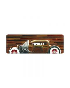 32 Hotrod Coupe, Automotive, Metal Sign, 24 X 8 Inches