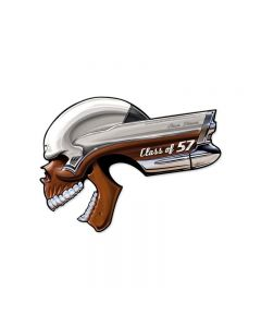 Buick Skull Class Of '57, Automotive, Custom Metal Shape, 22 X 16 Inches