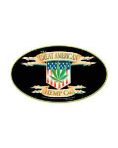 American Hemp, Humor, Oval Metal Sign, 24 X 14 Inches