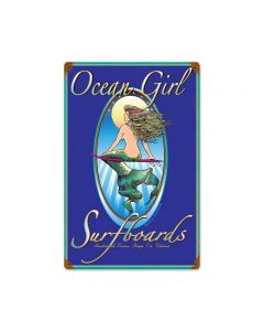 Ocean Girl, Automotive, Vintage Metal Sign, 18 X 12 Inches