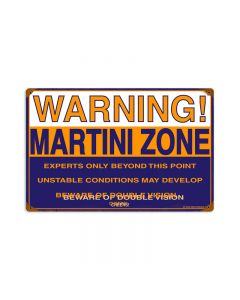 Martini Zone, Food and Drink, Vintage Metal Sign, 18 X 12 Inches