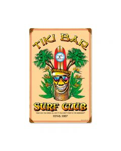 Tiki Bar, Bar and Alcohol, Vintage Metal Sign, 12 X 18 Inches