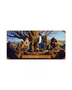 The Fellowship, Fantasy, Vintage Metal Sign, 24 X 12 Inches