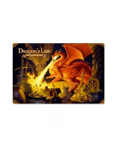 Dragons Lair, Fantasy, Vintage Metal Sign, 18 X 12 Inches