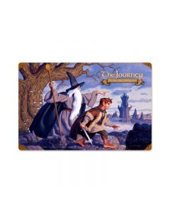 The Journey, Fantasy, Vintage Metal Sign, 18 X 12 Inches