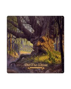 Old Man Willow, Fantasy, Metal Sign, 18 X 18 Inches