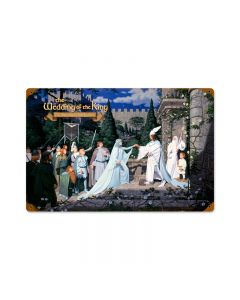 The Wedding of the King, Fantasy, Vintage Metal Sign, 18 X 12 Inches