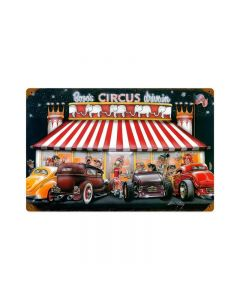 Circus Drive In, Automotive, Vintage Metal Sign, 18 X 12 Inches