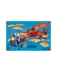Gilmore Airplane, Aviation, Vintage Metal Sign, 18 X 12 Inches