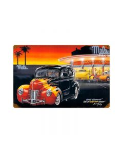 Cool Crusin, Automotive, Vintage Metal Sign, 18 X 12 Inches