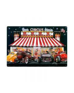 Circus Drive In, Automotive, Vintage Metal Sign, 36 X 24 Inches