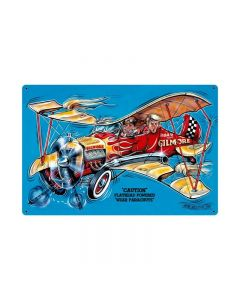 Gilmore Airplane, Aviation, Vintage Metal Sign, 36 X 24 Inches