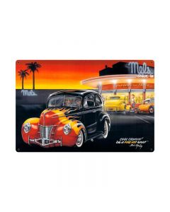 Cool Crusin, Automotive, Vintage Metal Sign, 36 X 24 Inches