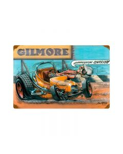 Gilmore Racer, Automotive, Vintage Metal Sign, 18 X 12 Inches