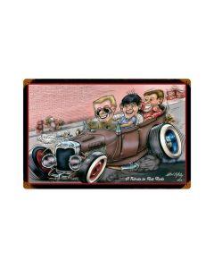 Rat Rod Tribute, Automotive, Vintage Metal Sign, 18 X 12 Inches