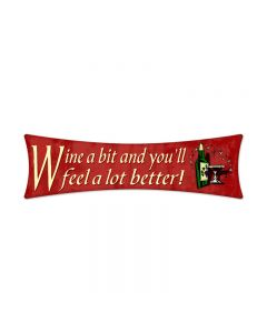 Wine a bit, Food and Drink, Bowtie Metal Sign, 27 X 8 Inches