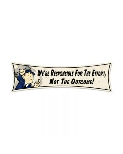 Responsible, Humor, Bowtie Metal Sign, 27 X 8 Inches