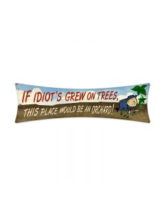 Idiots Orchard, Humor, Bowtie Metal Sign, 27 X 8 Inches