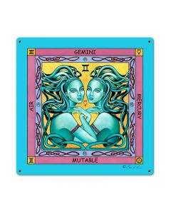 Gemini, Home and Garden, Metal Sign, 18 X 18 Inches
