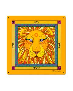 Leo, Home and Garden, Metal Sign, 18 X 18 Inches
