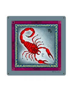Scorpio, Home and Garden, Metal Sign, 18 X 18 Inches