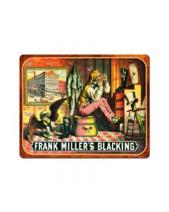 Frank Miller Blackening, Nostalgic, Vintage Metal Sign, 15 X 12 Inches