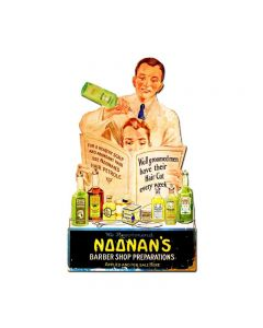 Noonanƒ??s Barber Shop, Nostalgic, Vintage Metal Sign, 15 X 24 Inches