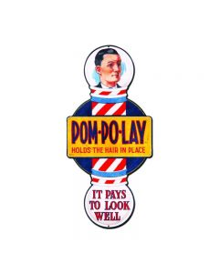 POM POLAY, Nostalgic, Vintage Metal Sign, 10 X 24 Inches