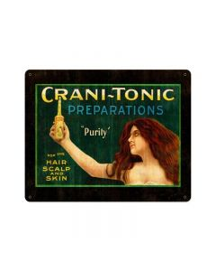 CRANITONIC, Nostalgic, Vintage Metal Sign, 15 X 12 Inches