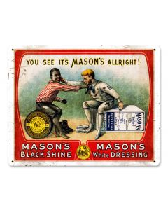 MASONƒ??S , Nostalgic, Vintage Metal Sign, 15 X 12 Inches
