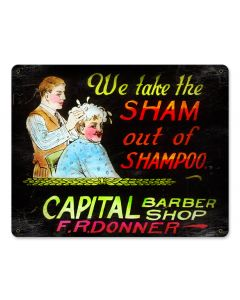 WE TAKE THE SHAM, Nostalgic, Vintage Metal Sign, 15 X 12 Inches