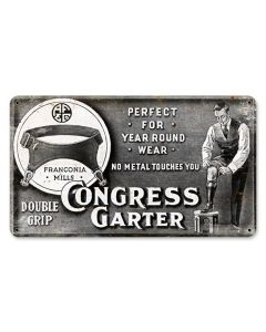 CONGRESS, Nostalgic, Vintage Metal Sign, 14 X 8 Inches