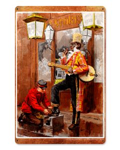 Banjo Shoeshine, Nostalgic, Plasma, 12 X 18 Inches