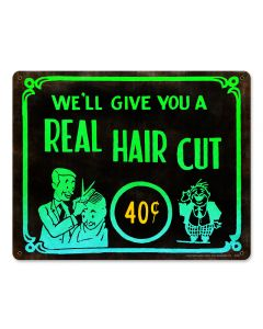 Haircut 40 Cents, Nostalgic, Plasma, 15 X 12 Inches