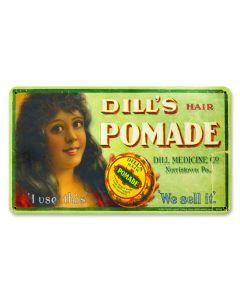 Dill's Pomade, Nostalgic, Plasma, 14 X 8 Inches