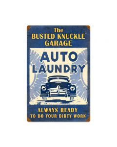 Auto Laundry, Automotive, Vintage Metal Sign, 16 X 24 Inches