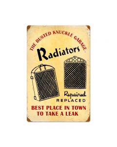 Radiator Service, Automotive, Vintage Metal Sign, 16 X 24 Inches